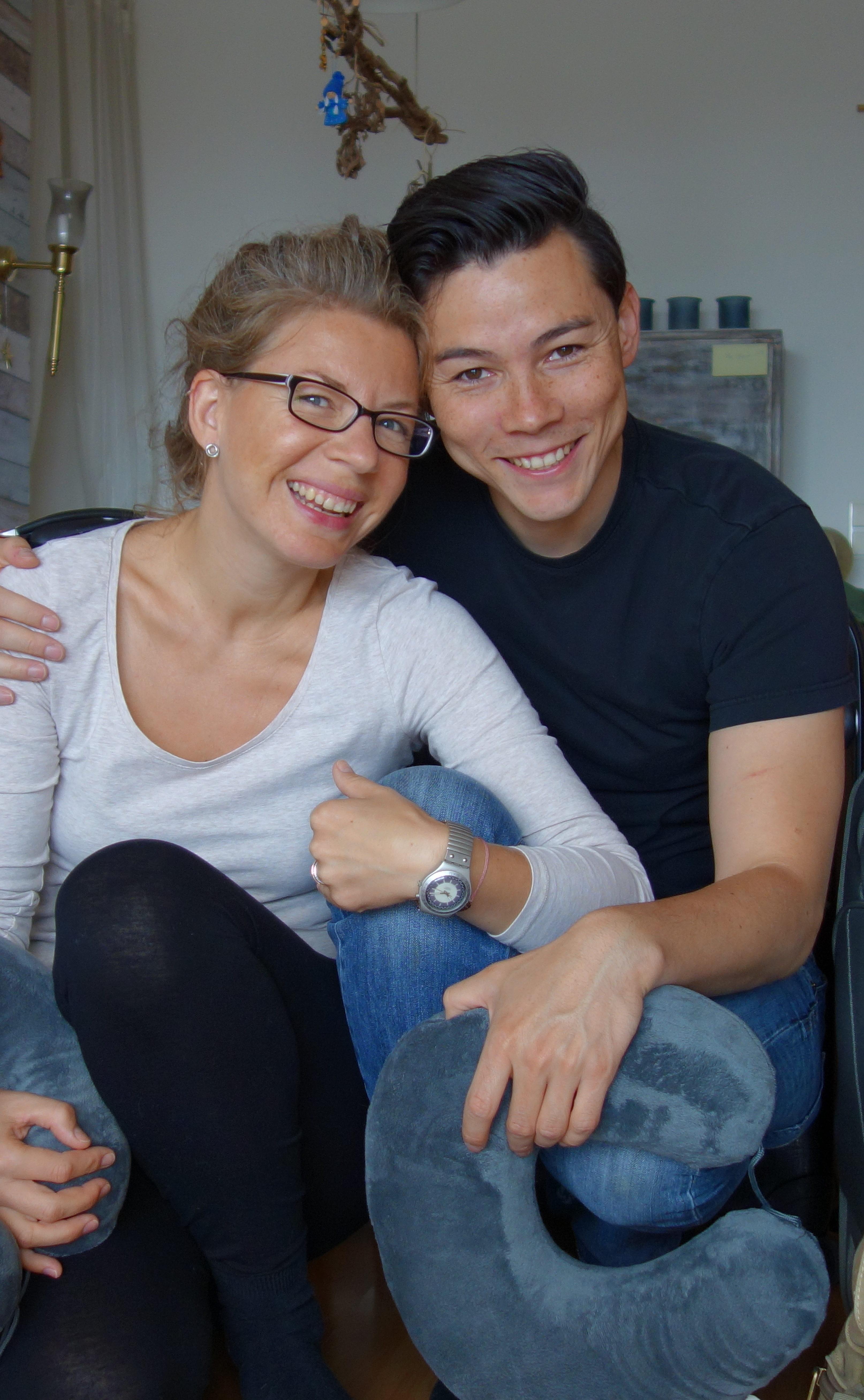 Kiki und Matthias lächeln zum Abschied goodbye