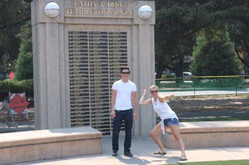 Wir üben um auch auf die Tafel der besten Sportler Stanfords zu kommen...